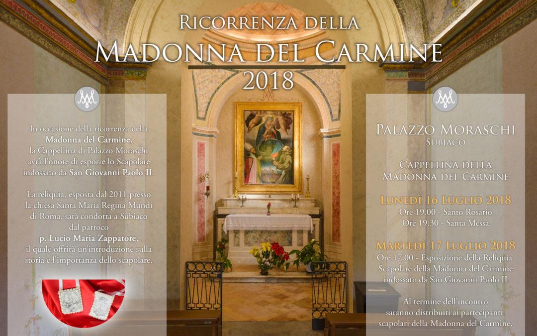 Esposizione dello Scapolare di san Giovanni Paolo II